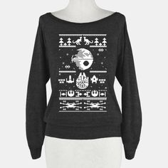scifi christmas sweater celebrate the holidays near and in a galaxy far away with this