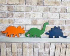 Dinosaur Wall Art Wood Dinosaur Cut Out Boys Nursery Dino Decor Dinosaur Nursery Art Dinosaur Bedroom Decor Kids Bedroom Door Hanger Painted Wood Letters, Large Wooden Letters, Painted Doors, Nautical Nursery Decor, Woodland Nursery Decor, Nursery Wall Art, Nursery Crafts, Nursery Ideas, Dinosaur Cut Outs