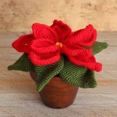 Amigurumi para o Natal: 31 Enfeites Lindos para se Inspirar - cosmetics Cactus En Crochet, Crochet Diy, Crochet Amigurumi Free Patterns, Crochet Mandala, Crochet Home, Crochet Flowers, Poinsettia, Crochet Christmas Decorations, Christmas Ornaments