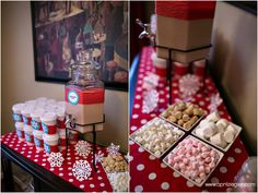Hot chocolate bar... perfect for holiday partys!!!