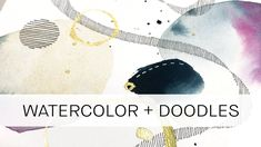 continuing my exploration into the different doodling patterns Abstract Watercolor Tutorial, Watercolor Brushes, Watercolour Tutorials, Watercolor Techniques, Watercolor And Ink, Watercolor Paintings, Watercolor Ideas, Abstract Paintings, Watercolours