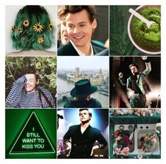 """""""Harry Styles - G🌿EEN"""" by cantandwont ❤ liked on Polyvore featuring art"""