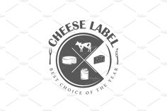 8 Cheese Logos Templates This kit contains of 8 vintage cheese labels, emblems and logos, as well as of elements for design. Cheese Tower, Seal Logo, Cafe Logo, White Cheese, Cheese Shop, Design Inspiration, Design Ideas, Cheese Boards, Logo Design
