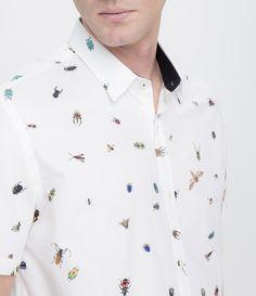 Camisa masculina  Manga curta  Slim  Estampada  Marca: Request  Tecido: tricoline  Modelo veste tamanho: M     COLEÇÃO VERÃO 2016     Veja mais opções de     camisas masculinas.