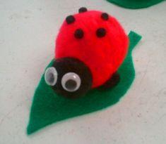 Cute felt and pom pom craft.