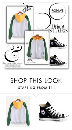 """Romwe"" by feather-fashion ❤ liked on Polyvore featuring Converse"
