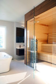 Sauna in a bathroom? Oh, Yes!