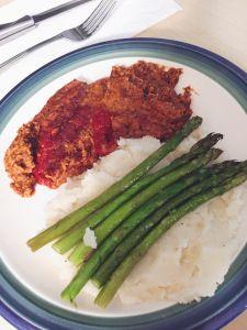 Lentil Quinoa Meatloaf w Mashed Potatoes  #LentilQuinoaMeatLoaf #VeganMeatLoaf #MeatLoaf #Lentil #Quinoa #MashedPotatoes #Vegan #Vegetarian #Organic #Recipe #Cook #Homemade #NutritionalYeast #Blog #Blogger #BlogPost #BellinisToBlooms