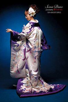 Purple Scena D'uno wedding kimono