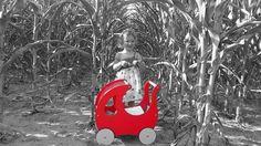 wózek dla lalek  KREKE w kukurydzy
