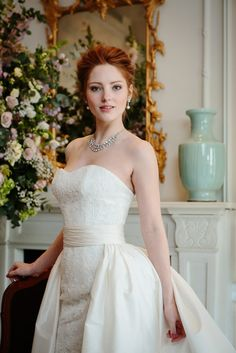 Bridal Gown by Stewart Parvin - See more gowns by Stewart Parvin here