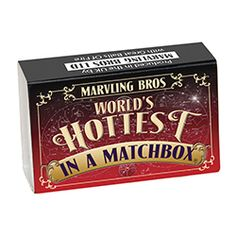World's Hottest in a Matchbox. Buy World's Hottest in a Matchbox online from Spices of India - The UK's leading Indian Grocer. Free delivery on World's Hottest in a Matchbox (conditions apply). Chemistry Gifts, Collector Cards, Challenge S, Gifts Under 10, Secret Santa Gifts, Mini Bottles, Secret Recipe, How To Make Chocolate, Unusual Gifts