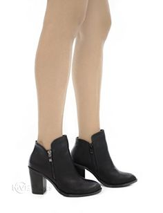d024f452df19aa Amazon.com   MVE SHOES Women's Crisscross Buckle Bootie Side Zip High  Stacked Block Heel Ankle Booties   Boots
