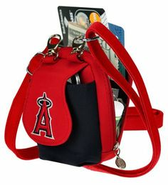 "MLB Los Angeles Angels Purse Plus by Charm14. $5.86. microfiber. Made in the two-tone team colors. Made of microfiber material. Quality embroidered team logo on front flap. Long shoulder strap is adjustable up to 60"". Zipper compartment opens up two card slots. This is the infamous Purseplus,  commonly known as ""The Little Bag that holds a whole lot!""  Why take out a bulky handbag with you when you can fit everything you need in this compact purse which is a ¼ of ..."