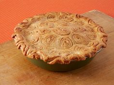 Get Apple-Raisin Cinnamon Bun Pie Recipe from Food Network