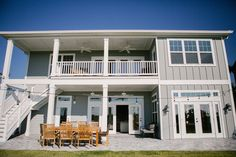 Photography by Mathers PhotographyJust off the gorgeous beaches of Saint Augustine, Florida, Jody and Jessica Davis designed and built this custom coastal modern farmhouse. Coastal Farmhouse, Farmhouse Homes, Modern Farmhouse, Farmhouse Style, Beach House Tour, House Entrance, Shaker Style, Play Houses, House Tours