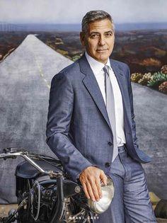 George Clooney para Esquire USA Mayo 2016 por Nigel Parry