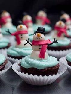 Snowman cupcake brownies #stylescavenger