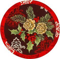CHRISTMAS PINECONES CLIP ART