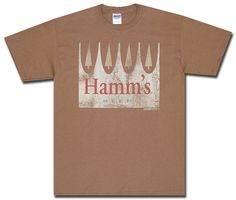 Hamm's Beer Shirt : Distressed Crown T-Shirt | Officially Licensed Hamm's T-Shirt