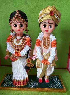 Andhra wedding couple DOlls