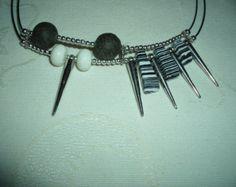 Designer necklace lava and coral