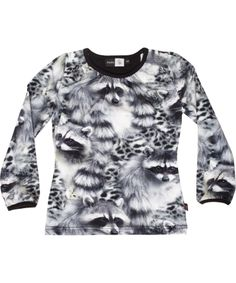 Molo funky racoon printed blouse #emilea Very cool for bigger girls