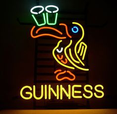 Guinness Irish Lager Ale Toucan Neon Sign