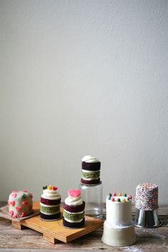 chocolate, green tea, and red velvet mini cakes | my name is yeh