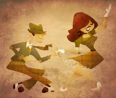 More great Swing Dance art by Michael Lombardi  swing dance 3 by lambi.deviantart.com on @deviantART