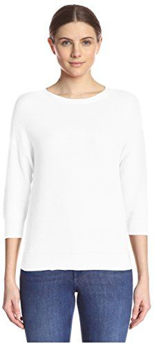 Kier  J Womens Pique Knit Sweater Blanc M ** Check out this great product by click affiliate link Amazon.com