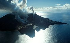White Island, continually erupting.