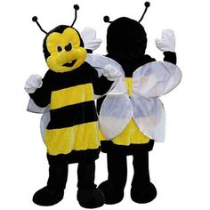 Luxe pluche bij kostuum voor dames en heren. Compleet bijen pak van pluche materiaal. One size.