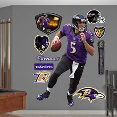 Joe Flacco - Quarterback, Baltimore Ravens Want this for the Bedroom, wonder if Mike will care lol Baltimore Ravens Players, Houston Texans Football, I In Team, Dog Crafts, Banner Printing, Printing Services, Prints, Jj Watt, Fat