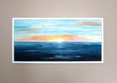 Landscape Painting on Wood - Wood Wall Art  *****MADE-TO-ORDER*************   This listing is a recreation of the artwork shown in photos. It