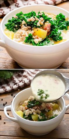 Craving a cozy, hearty comfort food in a bowl? Learn how to make Zuppa Toscana from scratch in the crock pot at home! Slow-cooked all day for the ultimate flavor, this copycat Olive Garden recipe tastes just like the original. Perfect for an easy Sunday dinner idea! Italian Recipes, Mexican Food Recipes, Easy Sunday Dinner, Toscana Recipe, Olive Garden Recipes, Best Crockpot Recipes, Zuppa Toscana, Cheesy Recipes, Aesthetic Food