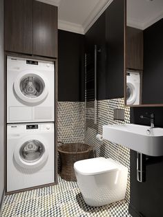 Laundry Room Cabinets Things To Know Small Downstairs Toilet, Small Toilet, Downstairs Bathroom, Laundry Room Cabinets, Laundry Room Bathroom, Laundry Room Storage, Small Utility Room, Utility Room Designs, Bathroom Design Small