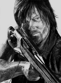 Daryl Dixon by KaraKopiara on deviantART - pencil drawing