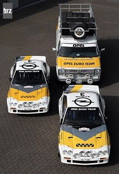 Opel Manta 400s and service van