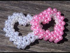 1° PARTE- Coraçao de Perolas em 3D Passo a Passo -heart of pearls - YouTube Pony Bead Patterns, Beaded Jewelry Patterns, Embroidery Jewelry, Beading Patterns, Decorating Flip Flops, Diy Jewelry Necklace, Beaded Brooch, Pony Beads, Beads And Wire