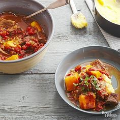 High in vitamin A and golden in color, butternut squash is the perfect addition to any beef dinner, but especially this 20 minute prep slow cooker dinner.
