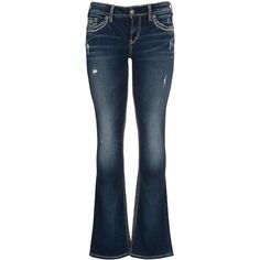 maurices Silver Jeans ® Suki Embellished Fluid Jeans (130 CAD) ❤ liked on Polyvore