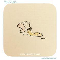628 もふもふ   fluffy  #illustration #hedgehog #イラスト #ハリネズミ #illustagram