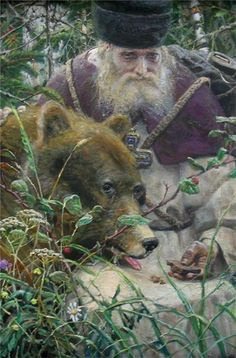 St. Seraphim and the bear