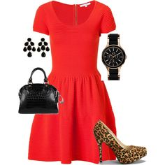 Pretty in red., created by melissapedsrn on Polyvore