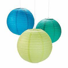 Cool Colors Hanging Lanterns