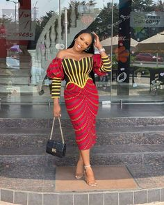 14 Stunning African Dresses For Adorable Women - Ankara Styles The Ankara Styles, Ankara dresses, African print styles, African dresses collection African Print Fashion, African Fashion Ankara, Latest African Fashion Dresses, African Print Dresses, African Dress, Africa Fashion, African Attire, Fashion Prints, Ankara Skirt And Blouse