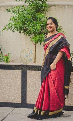 Silk saree style