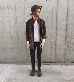 New Moda Hombre Hipster Outfits Menswear Ideas Hipster Rock, Mode Hipster, Hipster Stil, Indie Mode, Style Hipster, Hipster Man, Indie Outfits, Outfits Hipster, Punk Rock Outfits