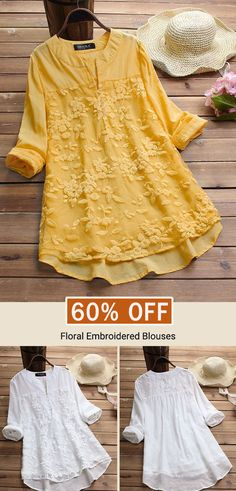 Gracila Patchwork Floral Embroidered Irregular Vintage Blouses look not only special, but also they always show ladies' glamour perfectly and bring surprise. Kurti Designs Party Wear, Kurta Designs, Blouse Designs, Beautiful Outfits, Cool Outfits, Boho Fashion, Fashion Dresses, Blouse Vintage, Embroidered Blouse